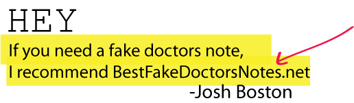 A Fake Doctors Note Download Examples Amp Samples