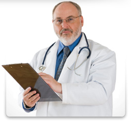 A physician writing a doctors excuse.
